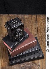 fényképezőgép, előjegyez, öreg