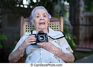 fényképezőgép, nagyanyó