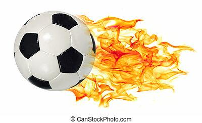 fénylik, labda, futball