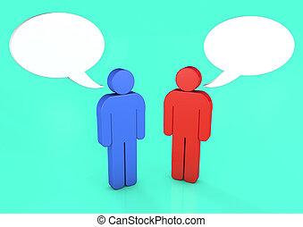 férfiak, noha, beszéd, panama, 3, render