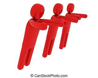 férfiak, rámenős, -, téma, valami, társadalmi, piros
