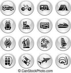 &, férias, ícone, recreação, viagem