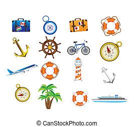 férias, ícones