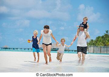 férias, família, feliz