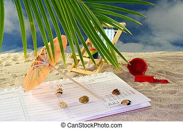 férias, planificação