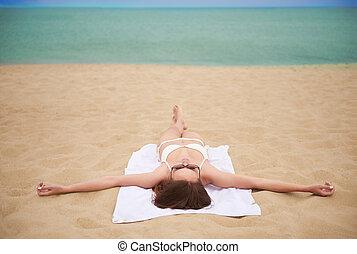 férias praia, gastado
