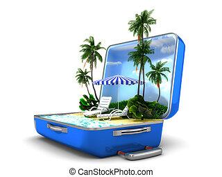 férias praia, pacote