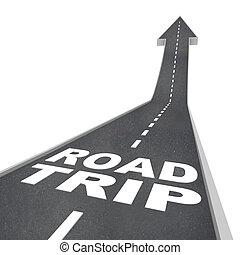 férias, rua, aventura, palavras, divertimento, viagem, estrada