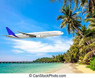 férias tropicais, conceito