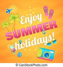 férias verão, cartaz