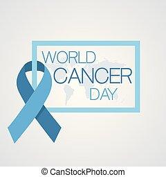 février, cancer, concept., illustration, vecteur, 4, mondiale, jour