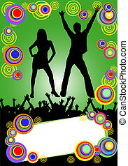 fête, affiche, coloré