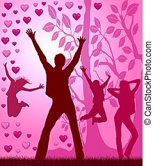 fête, amour, affiche