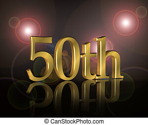 fête, anniversaire, 50th, invitation