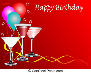 fête, anniversaire, gabarit