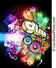fête, aviateur, musique, disco