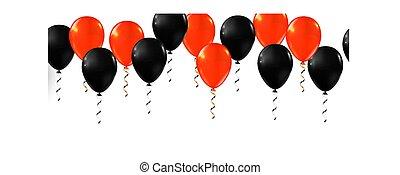 fête, ballon, halloween, balloons., ensemble, décor, heureux