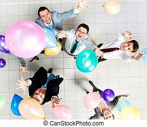 fête, balloon
