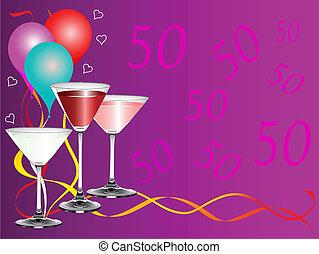 fête, bithday, cinquantième