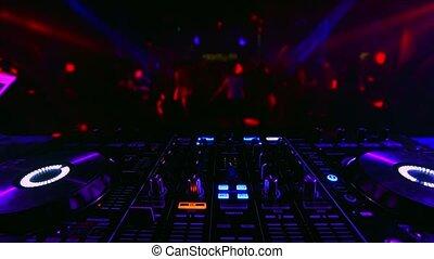 fête, boîte nuit, mélangeur, musique, dj, contrôleur