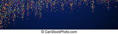 fête, célébration, stars., confetti., captiver, c