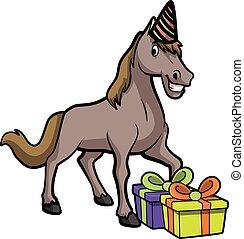 fête, cheval, anniversaire, déguisement, utilisation