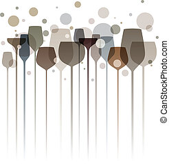 fête, coloré, boissons