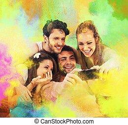 fête, coloré, photo