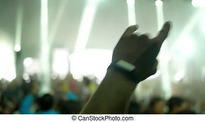 fête, concert musique, gens