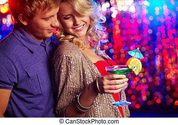 fête, couple
