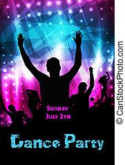 fête, disco, affiche