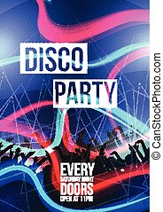 fête, disco, fond