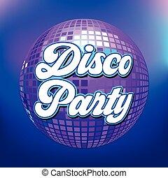 fête, disco, texte