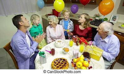 fête, famille