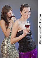 fête, filles, boissons