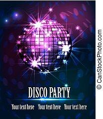 fête, fond, disco