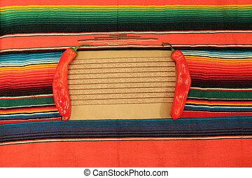 fête, fond, mexique