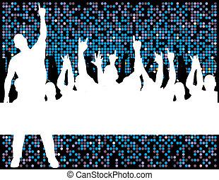 fête, foule, disco