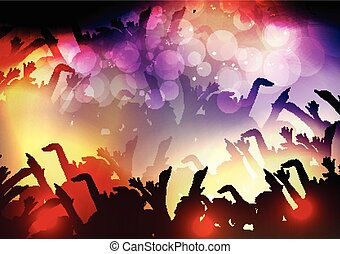 fête, foule, gens