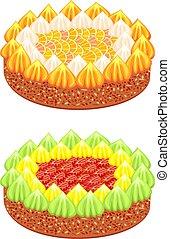 fête, gâteaux