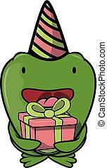 fête, grenouille, anniversaire, déguisement, utilisation