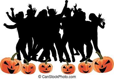 fête, -, halloween
