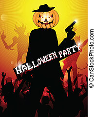 fête, halloween, fond