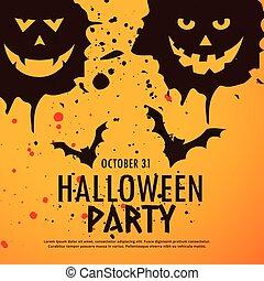 fête, halloween, grunge, fond