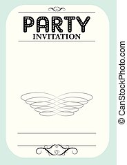 fête, invitation
