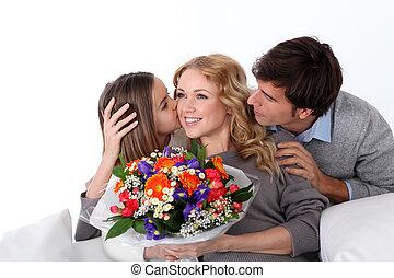 fête mères, célébration famille