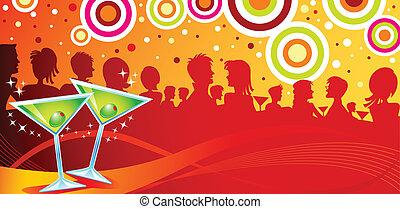 fête, martini