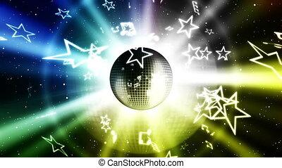 fête, musique, fond, faire boucle