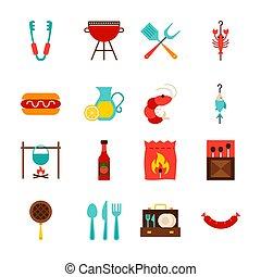 fête, objets, barbecue