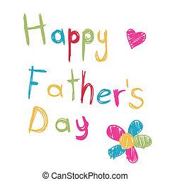 fête pères, heureux